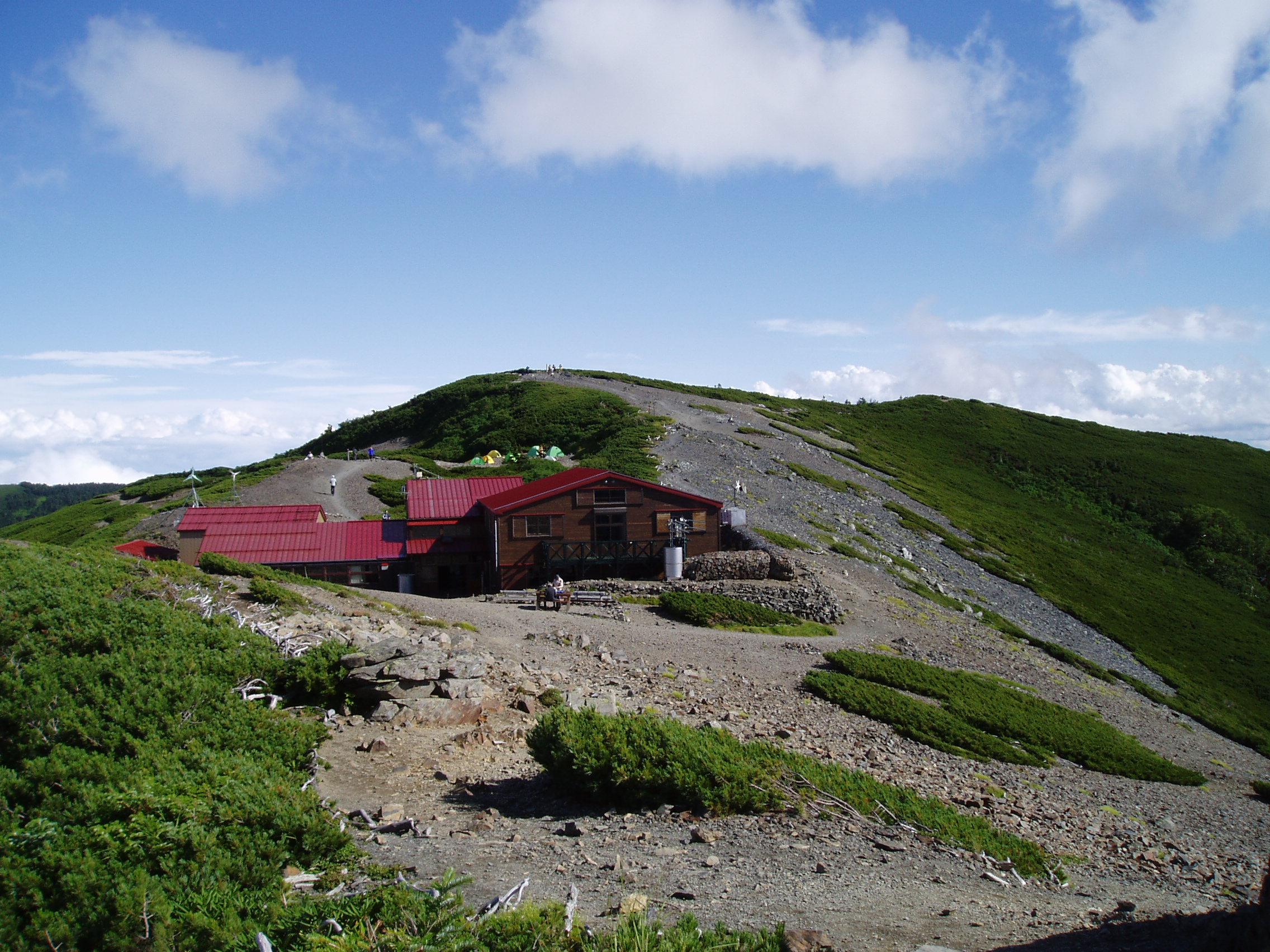 蝶ヶ岳ヒュッテの写真
